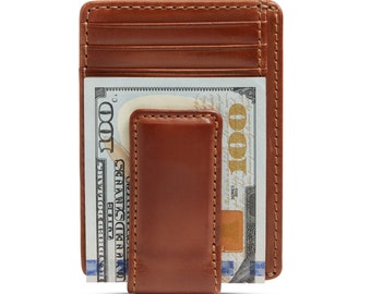 CARRYALL MAGNETIC Front Pocket Wallet • Money Clip Wallet • Groomsmen Gift • Mens Leather Wallet • Multi-Card Functionality