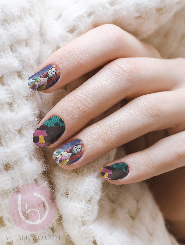 Sally Nail Decal, Nightmare Before Christmas, Nail Design, Nails ...
