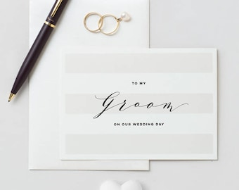 To My Groom On Our Wedding Day Card