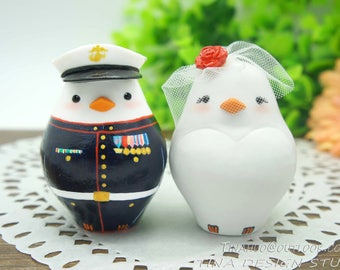 Marine Corps Wedding Cake Topper,Military Wedding Cake Topper,Love Bird Wedding Cake Topper,Marine Corps Wedding Gift