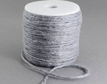 5 m of grey creating jewelry or other Ø 2 9 mm hemp cord
