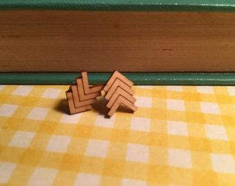Arrows - Wooden Laser Cut Earrings