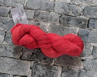Yarn, DK Yarn, Hand Dyed Yarn, Orange Yarn, , Superwash Merino Wool - Poppy
