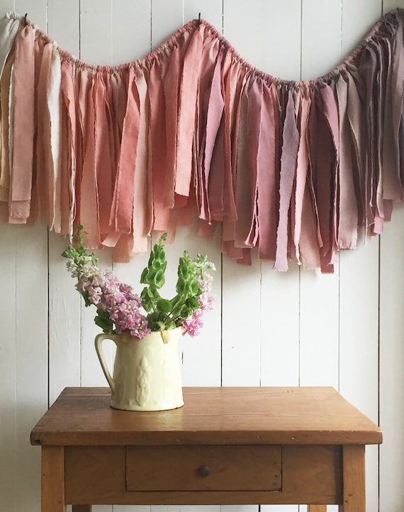 Like this item? & Fading Light Garland. Torn Fabric Garland. Naturally Dyed