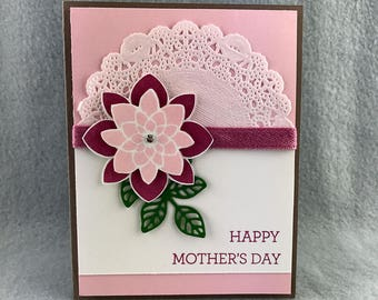 Hand Stamped Mother's Day Card - Happy Mother's Day Card -  Handmade Mother's Day Card - Mother's Day Card - Stampin' Up! Card