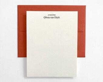 PARSONS - Personalized Letterpress Stationery - Custom Note Cards - Marais