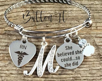 RN gifts, Nurse, Nurse graduation gift, She Believed she could so she did, Nurse Graduate, Class of 2018, RT, PT, Pharmacist, accomplishment