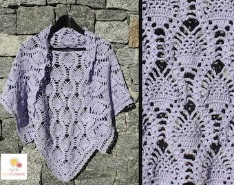 """Shawl """"Pineapple"""" Handmade, handmade crochet Shawl"""