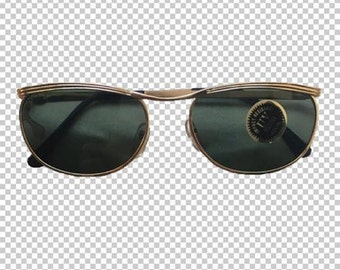 Y2K Vintage Gold Rim Oval-Square Sunglasses // Dead Stock Gray Color Lens Oval Shades // 80s Funky Retro Wire Metal Frames