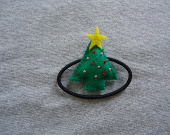 Christmas Tree Ponytail Holder