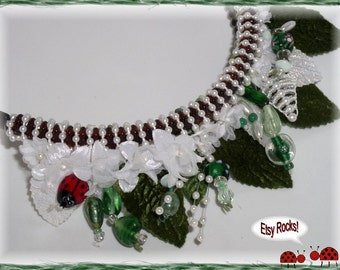 Garden Goddess Beaded Headband