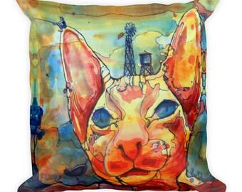 Catching Fish by Dan Colcer - Art Pillow