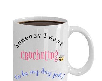 Valentine Day gift, crochet gifts, gifts for crocheters, gifts for knitters and crocheters, I love to crochet, crocheter gift, crochet mug,