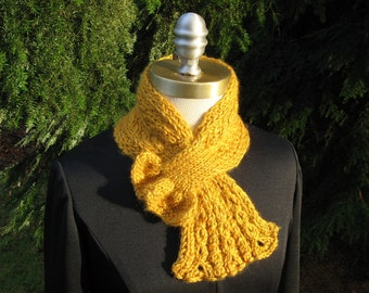 Cabled Scarflette  Digital Download Knitting Pattern 3 sizes