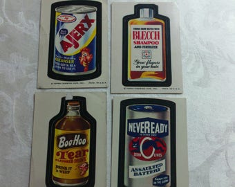 Vintage Wacky Pack Cards from the 1970's - Set #6
