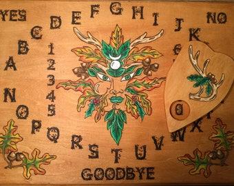 Deluxe Greenman Spirit Board~Ouija