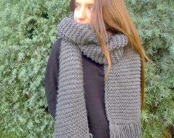 Patrón bufanda - Patrones punto dos agujas - Patrón en español - Patrones para tejer bufandas - Tutorial bufandas