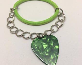 Green Guitar Pick Bracelet