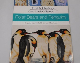 Polar Bears and Penguins Cross Stitch Collection, Book, David and Charles, Designs by Jayne Mayhew and Gillian Souter