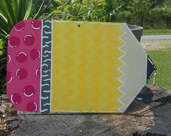 "SALE!!! 12"" Pencil Cut Out / Door Hanger / Wreath Decoration / unfinished/ 1/8""  Wood"