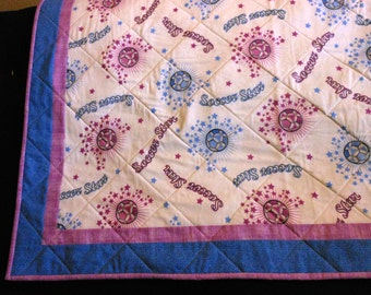 Quilt Soccer Star Lap Quilt Throw Wall Hanging
