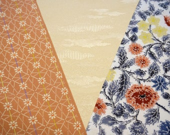 Vintage Japanese silk kimono fabric pack for craftwork patchwork quilting VP14