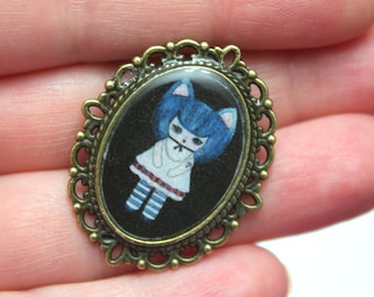Kat Gato - Kitty Cat Girl Pin