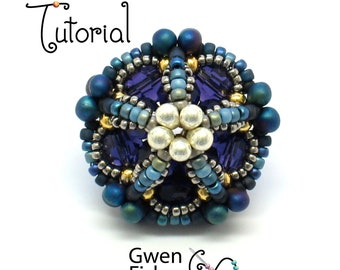 TUTORIAL Ionic Polyehdra beaded beads made with herringbone weave