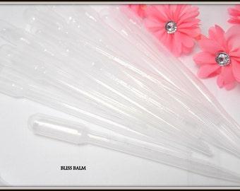 Disposable Pipette Plastic Dropper 3ml Graduated Transfer Pipettes Vol 7ml, 1/2ml Grads 155mm Flavor injectors Lip balm supplies DIY Beauty