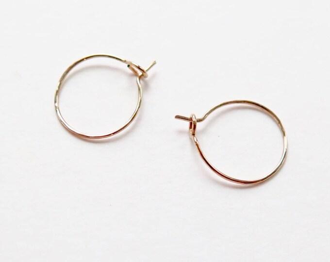 Tiny hoops - 14kt. GF Hoops - Simple Hoops - Sleeper Hoop - 20% OFF - SALE - Handmade - Minimalist Hoops - Thin Hoop - Free Ship & Tracking
