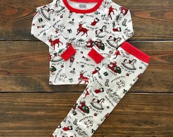 Boy Very Merry Cotton Pajamas