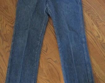 1980's vintage Levi jeans ladies high waist pin stripe