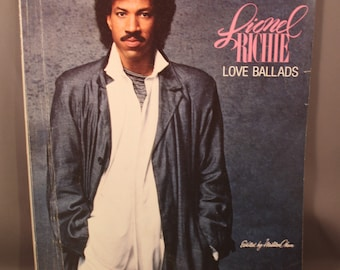 Rare Songbook 1987 The Love Ballads of LIONEL RICHIE Songbook Sheet Music 16 Hits Songs Printed in USA 80s
