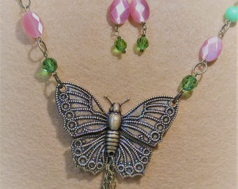 Pink and Green Glitter Butterfly Invasion