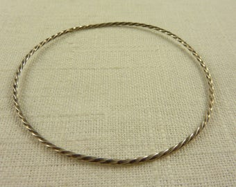 Vintage Sterling Thin Twist Bracelet