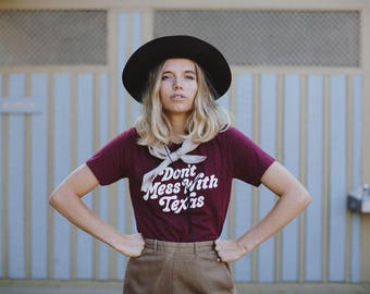 Don't Mess With Texas, UNISEX shirt by The Bee & The Fox