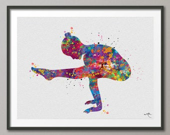 Yoga Art, Yoga Print, Yoga Watercolor, Yoga Pose, Tittibhasana, Yogi, Yoga Decor, Firefly Pose, Yoga Wall Decor, Yoga Wall Hanging, Gift-867
