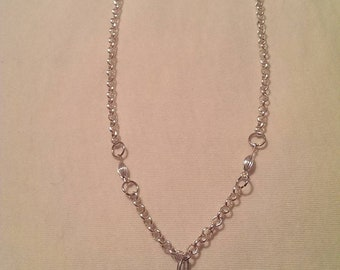 Silver Chain with Crystal Dangler