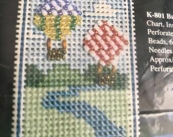 SUMMERSALE June Grigg Designs Inc Balloons cross stitch bookmark kit