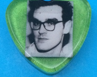 Morrissey Green Heart Brooch