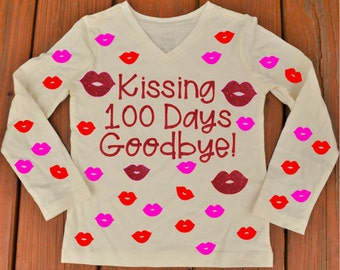 100 days of School Shirt, Kissing 100 Days Goodbye Shirt