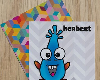 "Replacement Card ""Herbert"" — Oh Those Monsters: Memory Game"