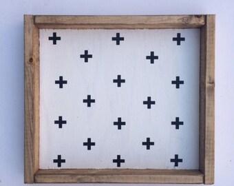 Swiss Cross Pattern Sign