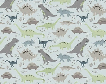 Fossil Rim Dinosaurs Main in Blue by Deena Rutter for Riley Blake  Designs