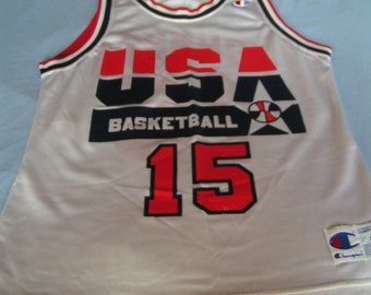 Vintage NBA Dream Team Jersey---Magic Johnson #15---From The Early 1990's