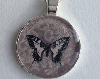 Cristal clear RESIN pendent/ Butterfly