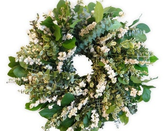 Eucalyptus & Larkspur Wreath