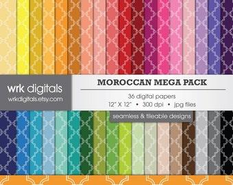 Moroccan Mega Pack Seamless Digital Paper Pack, Digital Scrapbooking, Instant Download