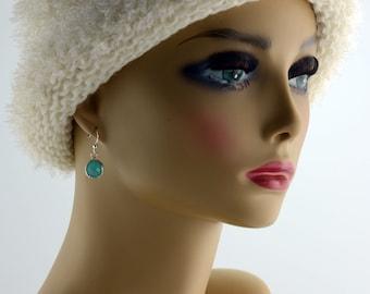 Mint Raindrop Earrings - E2645 - Free Shipping