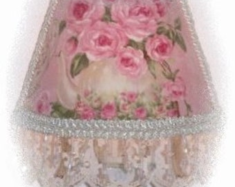 Lovely Large Teapot and PINK Roses Cottage CHIC Night Light